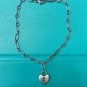Tiffany & Co Mini Heart Keyhole Link Bracelet